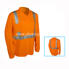 mens long sleeve hi-vis safety reflective tshirt